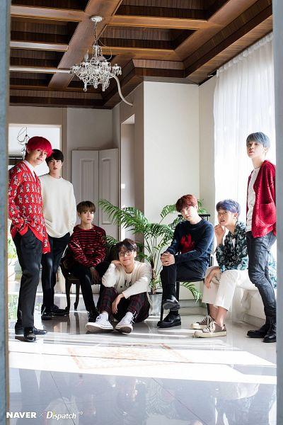 Tags: K-Pop, BTS, V (Kim Taehyung), Rap Monster, Park Jimin, J-Hope, Suga, Jungkook, Jin, Gray Hair, Blue Hair, Glasses