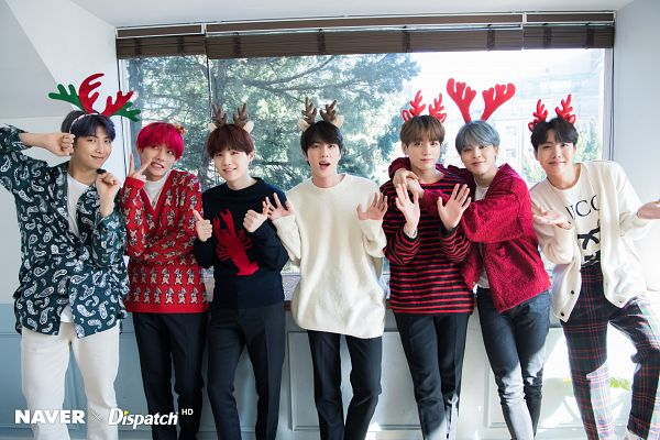 Tags: K-Pop, BTS, Jungkook, Jin, V (Kim Taehyung), Rap Monster, Park Jimin, J-Hope, Suga, Group, Gray Hair, Blue Shirt