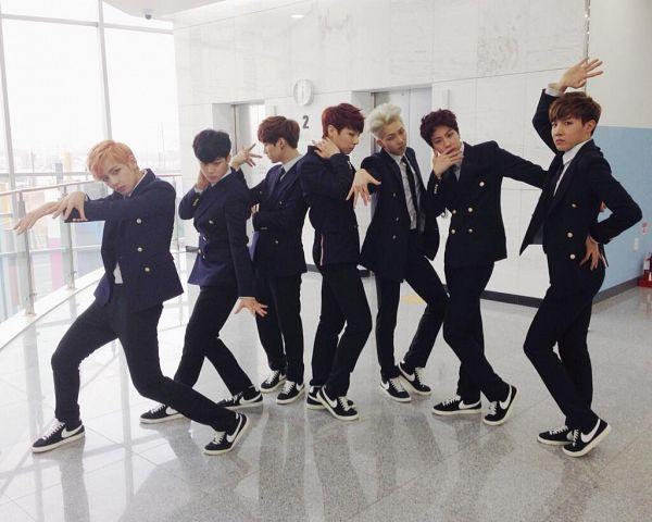 Tags: K-Pop, BTS, Park Jimin, J-Hope, Suga, Jungkook, Jin, V (Kim Taehyung), Rap Monster, Tie, Window, Full Group