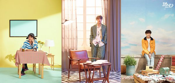 Tags: K-Pop, BTS, Euphoria, Daydream, Epiphany, J-Hope, Jin, Jungkook, English Text, Trio, Korean Text, Three Males