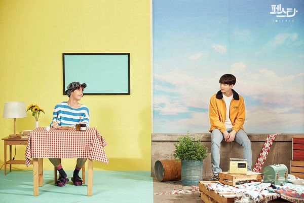 Tags: K-Pop, BTS, Daydream, Euphoria, Jungkook, J-Hope, Duo, Two Males, English Text, Korean Text, 2019 BTS Festa, Hope World