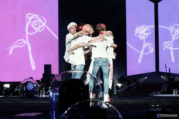Tags: K-Pop, BTS, Suga, Jungkook, Jin, V (Kim Taehyung), Rap Monster, Park Jimin, J-Hope, Eyes Closed, Spotlight, Group