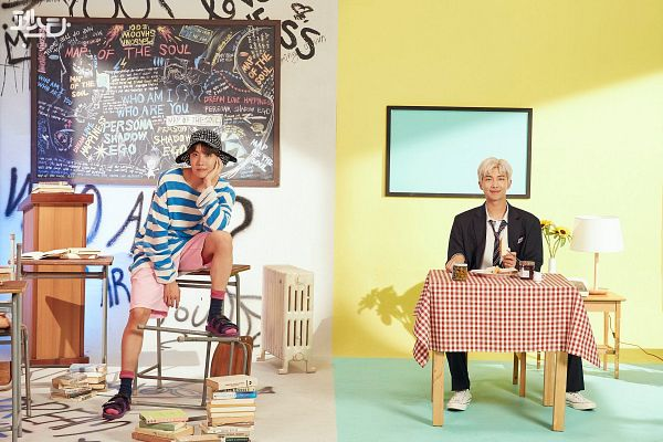 Tags: K-Pop, BTS, Persona (Song), Daydream, J-Hope, Rap Monster, Duo, Two Males, English Text, Korean Text, Map of the Soul: Persona, Hope World