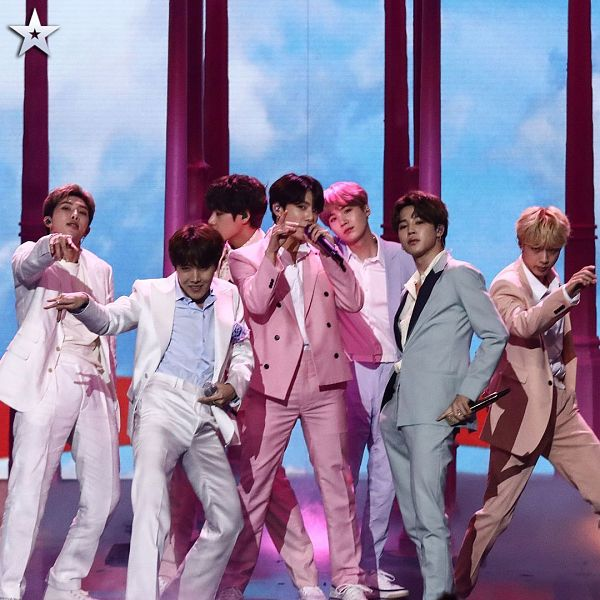 Tags: K-Pop, BTS, Boy With Luv, J-Hope, Suga, Jungkook, Jin, V (Kim Taehyung), Rap Monster, Park Jimin, Blue Pants, Full Group