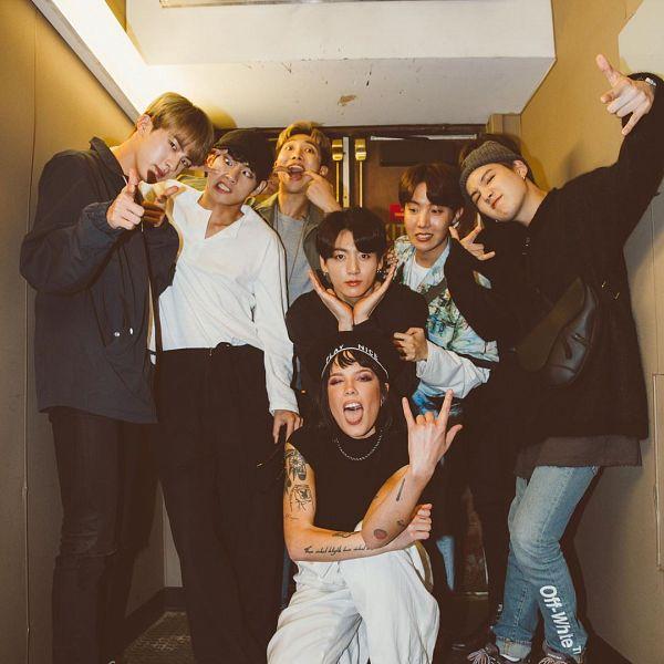 Tags: K-Pop, BTS, J-Hope, Halsey, Suga, Jungkook, Jin, V (Kim Taehyung), Rap Monster, Park Jimin, Grin, Black Eyes