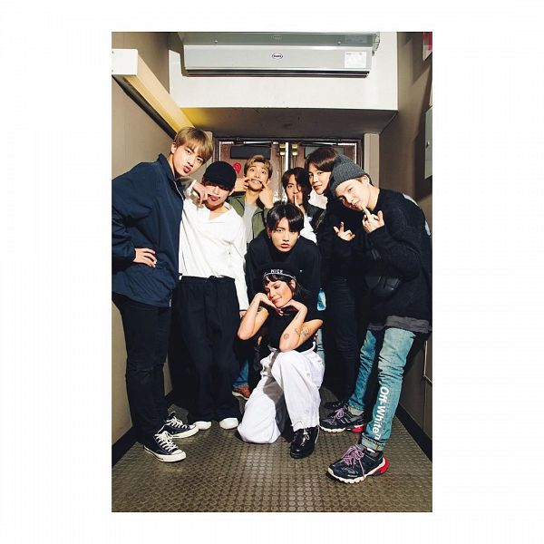 Tags: K-Pop, BTS, Park Jimin, J-Hope, Suga, Jungkook, Jin, Halsey, V (Kim Taehyung), Rap Monster, Black Pants, White Pants