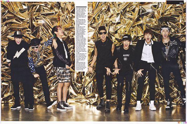 Tags: K-Pop, BTS, J-Hope, Suga, Jungkook, Jin, V (Kim Taehyung), Rap Monster, Park Jimin, Black Footwear, Bracelet, Tank Top