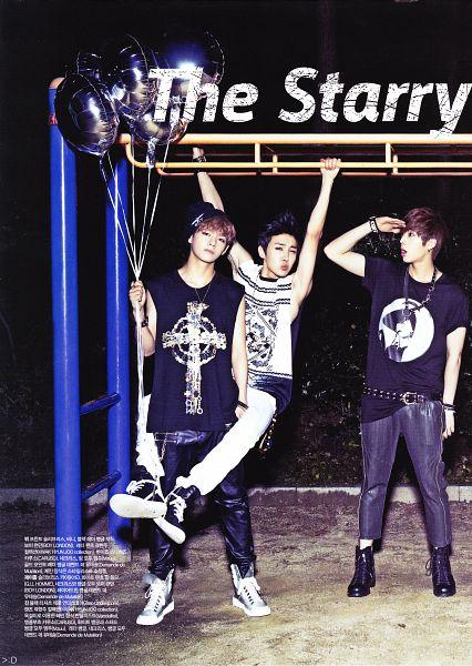Tags: K-Pop, BTS, V (Kim Taehyung), J-Hope, Jin, Tank Top, Three Males, Belt, Night, Black Pants, Necklace, Short Sleeves