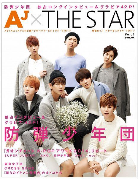Tags: K-Pop, BTS, Park Jimin, J-Hope, Suga, Jungkook, Jin, V (Kim Taehyung), Rap Monster, Gray Shirt, Gray Pants, Red Hair