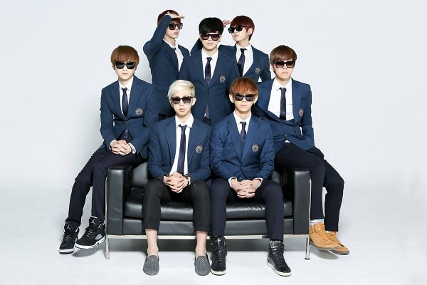 Tags: K-Pop, BTS, Jungkook, Jin, V (Kim Taehyung), Rap Monster, Park Jimin, J-Hope, Suga, Matching Outfit, Black Neckwear, School Uniform