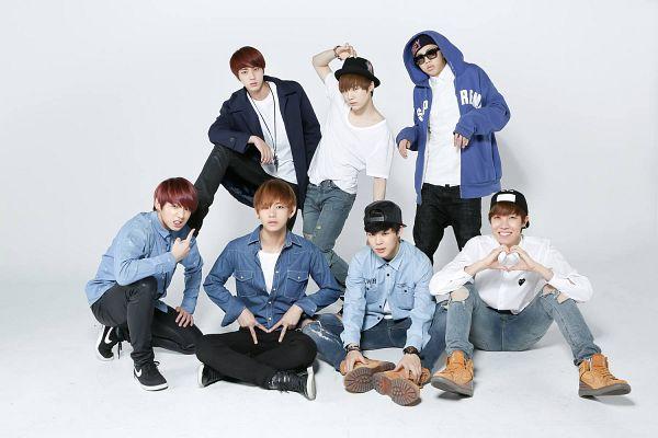 Tags: K-Pop, BTS, J-Hope, Suga, Jungkook, Jin, V (Kim Taehyung), Rap Monster, Park Jimin, Hat, Pointing, Black Footwear
