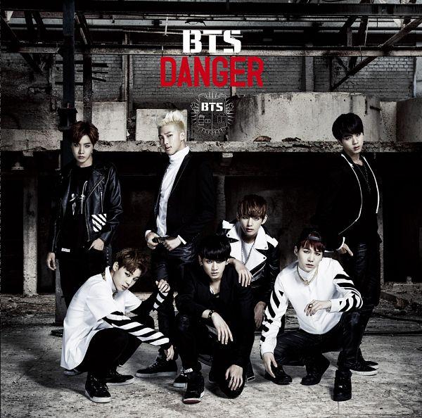 Tags: K-Pop, BTS, Danger, Suga, Jungkook, Jin, V (Kim Taehyung), Rap Monster, Park Jimin, J-Hope, Text: Album Name, Hat