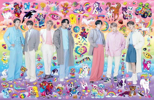 Tags: K-Pop, BTS, Rap Monster, Park Jimin, J-Hope, Suga, Jungkook, Jin, V (Kim Taehyung), Blue Pants, Full Group, Group
