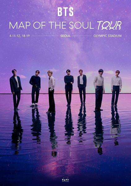Tags: K-Pop, BTS, V (Kim Taehyung), Rap Monster, Park Jimin, J-Hope, Suga, Jungkook, Jin, Text: Artist Name, Full Body, Water