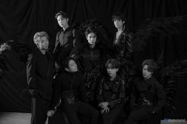 Tags: K-Pop, BTS, Rap Monster, Park Jimin, J-Hope, Suga, Jungkook, Jin, V (Kim Taehyung), Text: Artist Name, Looking At Another, Corset