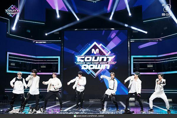 Tags: Television Show, K-Pop, BTS, V (Kim Taehyung), Rap Monster, Park Jimin, J-Hope, Suga, Jungkook, Jin, Purple Hair, Singing