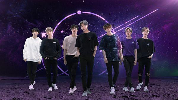 Tags: K-Pop, BTS, Park Jimin, J-Hope, Suga, Jungkook, Jin, V (Kim Taehyung), Rap Monster, White Outerwear, Hood, Dark Background