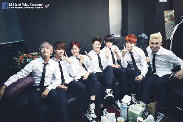 Tags: K-Pop, BTS, Park Jimin, J-Hope, Suga, Jungkook, Jin, V (Kim Taehyung), Rap Monster, Wink, Tie, Glass
