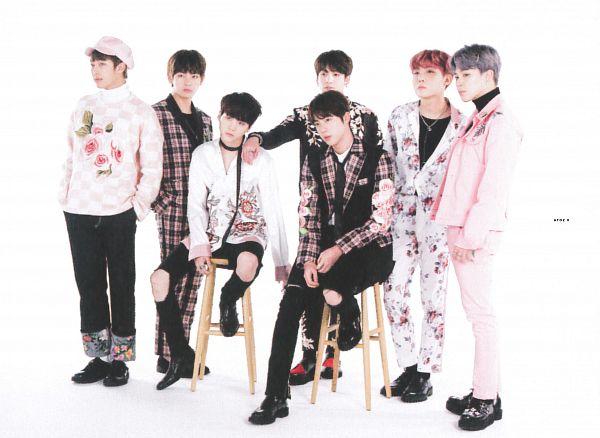 Tags: K-Pop, BTS, V (Kim Taehyung), Rap Monster, Park Jimin, J-Hope, Suga, Jungkook, Jin, Black Pants, Gray Hair, Sitting On Chair
