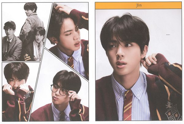 Tags: K-Pop, BTS, V (Kim Taehyung), Suga, Jin, Hand In Hair, Three Males, Pouting, Glasses, Striped, Hat, Looking At Another