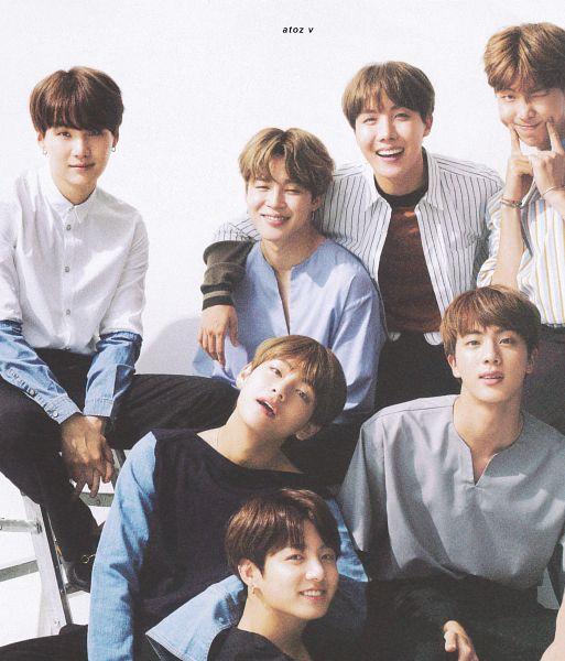 Tags: K-Pop, BTS, Rap Monster, Park Jimin, J-Hope, Suga, Jungkook, Jin, V (Kim Taehyung), Wink, Full Group, Hand On Knee