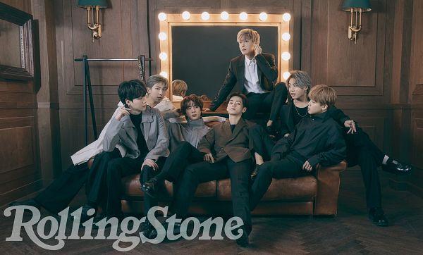 Tags: K-Pop, BTS, Rap Monster, Park Jimin, J-Hope, Suga, Jungkook, Jin, V (Kim Taehyung), Lamp, Couch, Black Pants