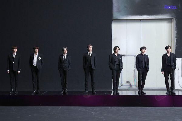 Tags: K-Pop, BTS, J-Hope, Suga, Jungkook, Jin, V (Kim Taehyung), Rap Monster, Park Jimin, Tie, Full Group, Black Pants
