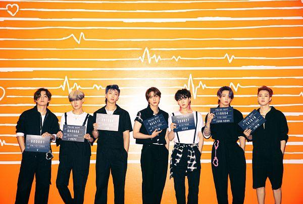 Tags: K-Pop, BTS, Butter, J-Hope, Suga, Jungkook, Jin, V (Kim Taehyung), Rap Monster, Park Jimin, Red Hair, Handcuffs
