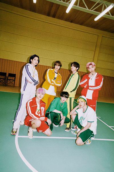 Tags: K-Pop, BTS, Butter, V (Kim Taehyung), Rap Monster, Park Jimin, J-Hope, Suga, Jungkook, Jin, Orange Pants, Shorts