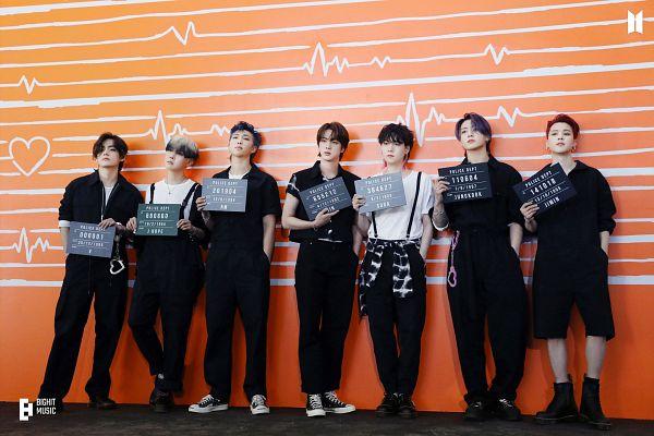 Tags: K-Pop, BTS, Butter, Jungkook, Jin, V (Kim Taehyung), Rap Monster, Park Jimin, J-Hope, Suga, Hand In Pocket, Overalls