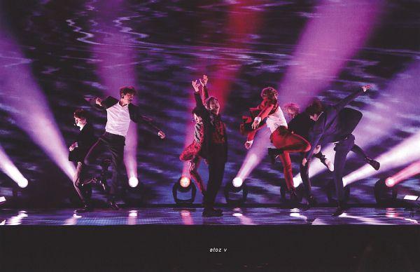 Tags: K-Pop, BTS, IDOL (Song), J-Hope, Suga, Jungkook, Jin, V (Kim Taehyung), Rap Monster, Park Jimin, Red Outerwear, Red Pants