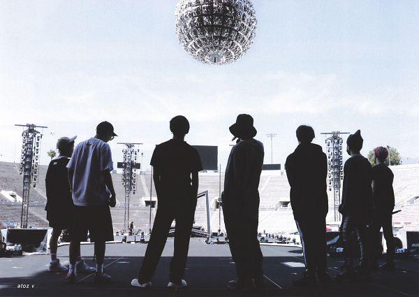 Tags: K-Pop, BTS, Jungkook, Jin, V (Kim Taehyung), Rap Monster, Park Jimin, J-Hope, Suga, Black Pants, Singing, Glasses