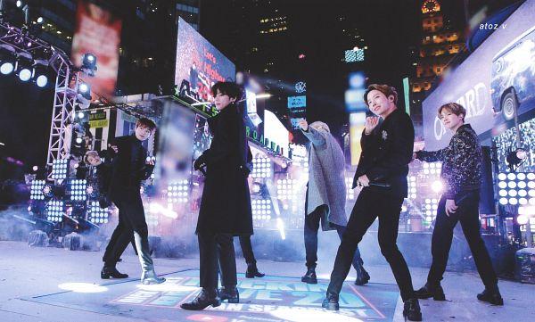 Tags: K-Pop, BTS, Boy With Luv, Suga, Jungkook, Jin, V (Kim Taehyung), Rap Monster, Park Jimin, J-Hope, Full Group, Stage