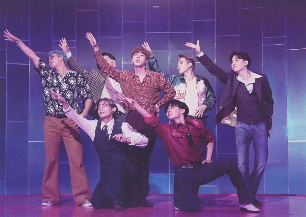Tags: K-Pop, BTS, Dynamite, Rap Monster, Park Jimin, J-Hope, Suga, Jungkook, Jin, V (Kim Taehyung), Full Group, Blue Hair