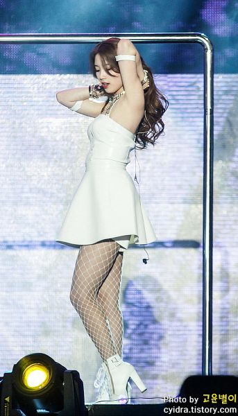 Tags: K-Pop, Miss A, Hush, Bae Suzy, Wavy Hair, Armpit, White Footwear, High Heels, Fishnets, Singing, Arms Up, Pole