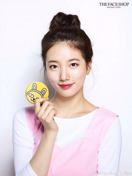 Tags: K-Pop, Miss A, Bae Suzy, Hair Up, Shadow, Single Bun, Jewelry, Closed Mouth, Make Up, Earrings, Pink Shirt, Hair Buns