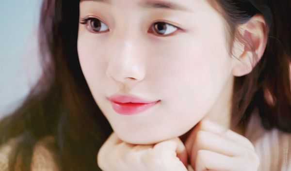 Tags: K-Pop, Miss A, Bae Suzy, Looking Away, Arm Support, Contact Lenses, Close Up, Clalen, Screenshot