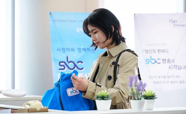 Tags: JYP Entertainment, K-Pop, K-Drama, Bae Suzy, Coat, Plant, Flower, Bag, Purple Flower, Cactus, While You Were Sleeping