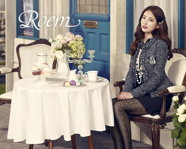 Tags: K-Pop, Bae Suzy, Skirt, Blue Skirt, Vase, Sitting On Chair, Macaron, Chair, Pantyhose, Sweets, Wavy Hair, Table