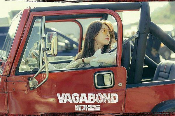 Tags: K-Drama, K-Pop, Bae Suzy, Car, Looking Back, English Text, Korean Text, Glasses, Sunglasses, In Car, Vagabond