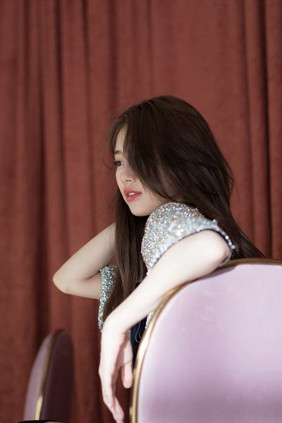 Tags: K-Pop, Bae Suzy, Peek-a-boo Bang, Floral Dress, Short Dress, Sitting On Chair, Bow, Short Sleeves, Floral Print, Chair, Black Eyes, Curtain