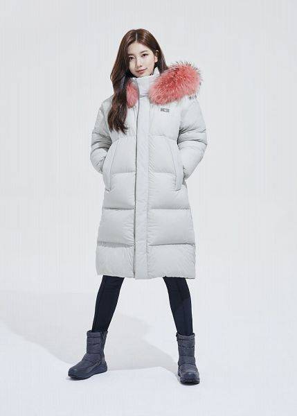 Tags: K-Pop, Bae Suzy, Coat, Fur, Fur Trim, Black Pants, White Outerwear, Light Background, Blue Footwear, White Background, K2