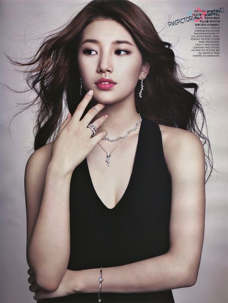 Tags: K-Pop, Miss A, Bae Suzy, Looking Away, Android/iPhone Wallpaper, Swarovski, Elle Korea, Magazine Scan