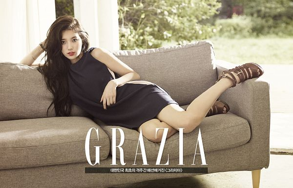 Tags: K-Pop, Miss A, Bae Suzy, Couch, Magazine Scan, Wallpaper, Grazia Korea