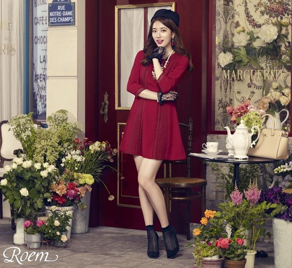 Tags: K-Pop, Miss A, Bae Suzy, Cup, Vase, Hat, Door, Make Up, Teapot, Lace, Bag, Red Dress