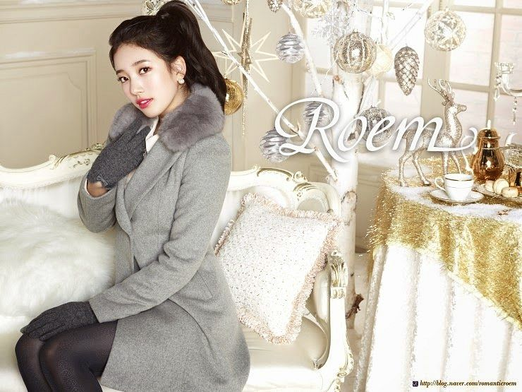 Tags: K-Pop, Miss A, Bae Suzy, Gray Outerwear, Ponytail, Cup, Flower, Make Up, Gray Legwear, Pillow, Bag, Coat