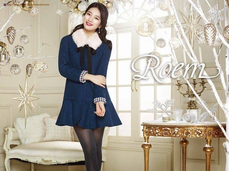 Tags: K-Pop, Miss A, Bae Suzy, Ribbon, Black Bow, Make Up, Blue Dress, Candelabrum, Christmas, Blue Outfit, Fur, Couch