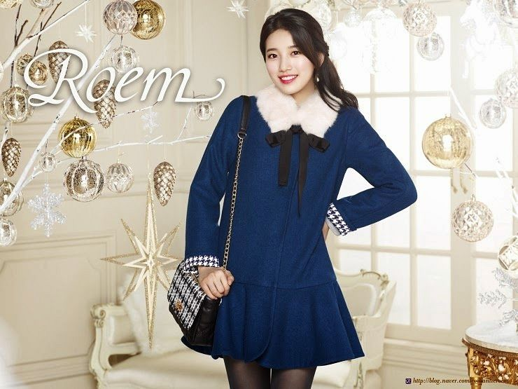 Tags: K-Pop, Miss A, Bae Suzy, Fur, Couch, Bow, Fur Trim, Table, Black Bow, Ribbon, Blue Dress, Make Up