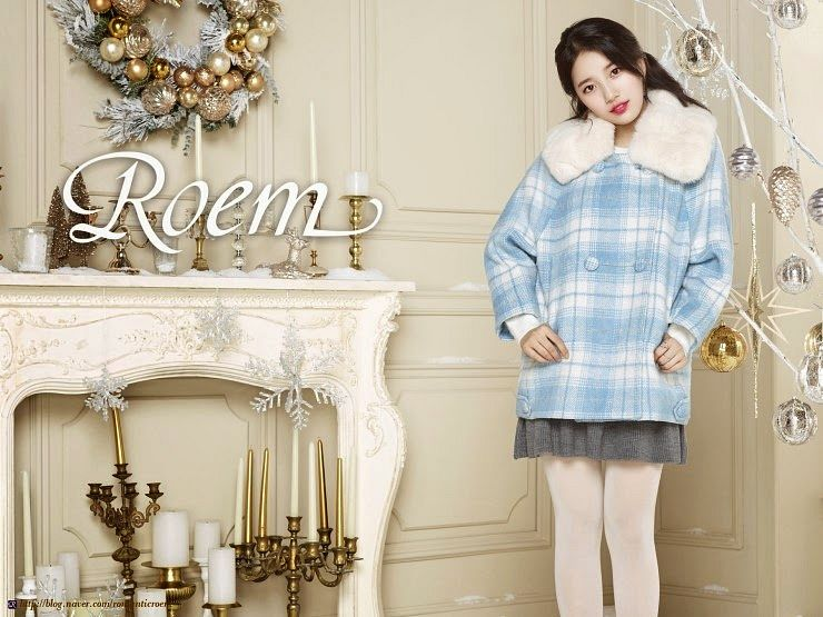 Tags: K-Pop, Miss A, Bae Suzy, Plaided Print, Pantyhose, Fur Trim, Ring, Candle, Blue Outerwear, Skirt, Gray Skirt, Candelabrum