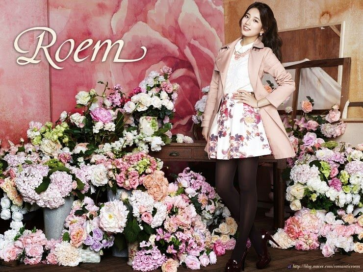 Tags: K-Pop, Miss A, Bae Suzy, Skirt, Hair Up, Flower, Vase, Ponytail, Floral Skirt, Table, Make Up, Brown Legwear